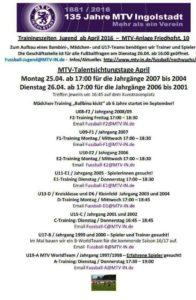 MTV-Trainingsgszeiten 1604-3