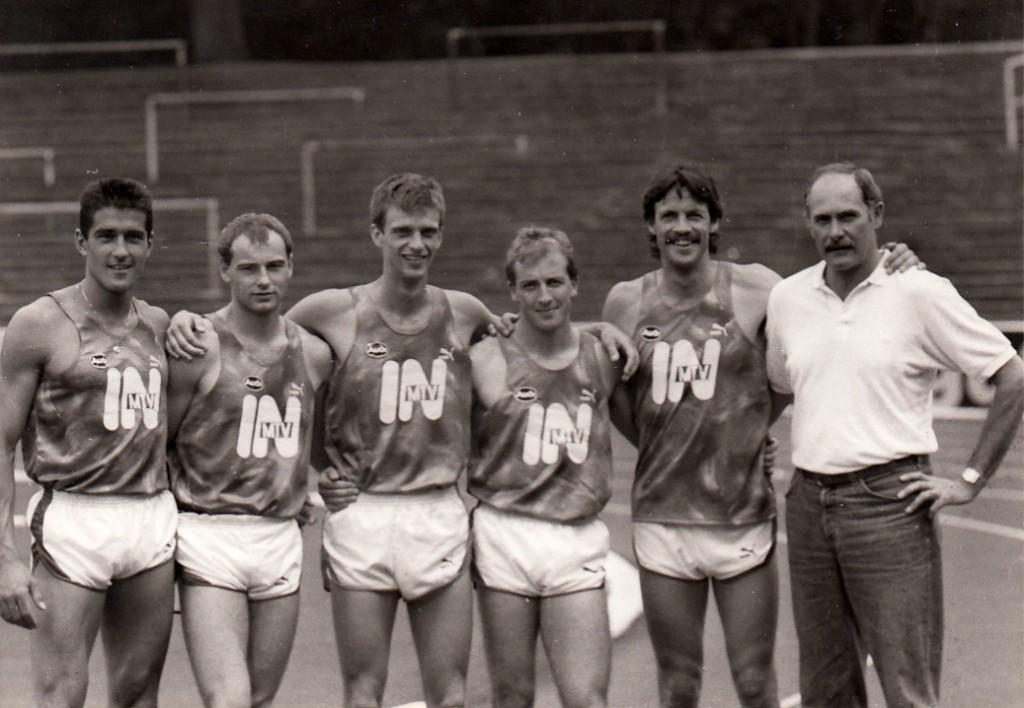 Mittelstreckler mit Trainer 1989