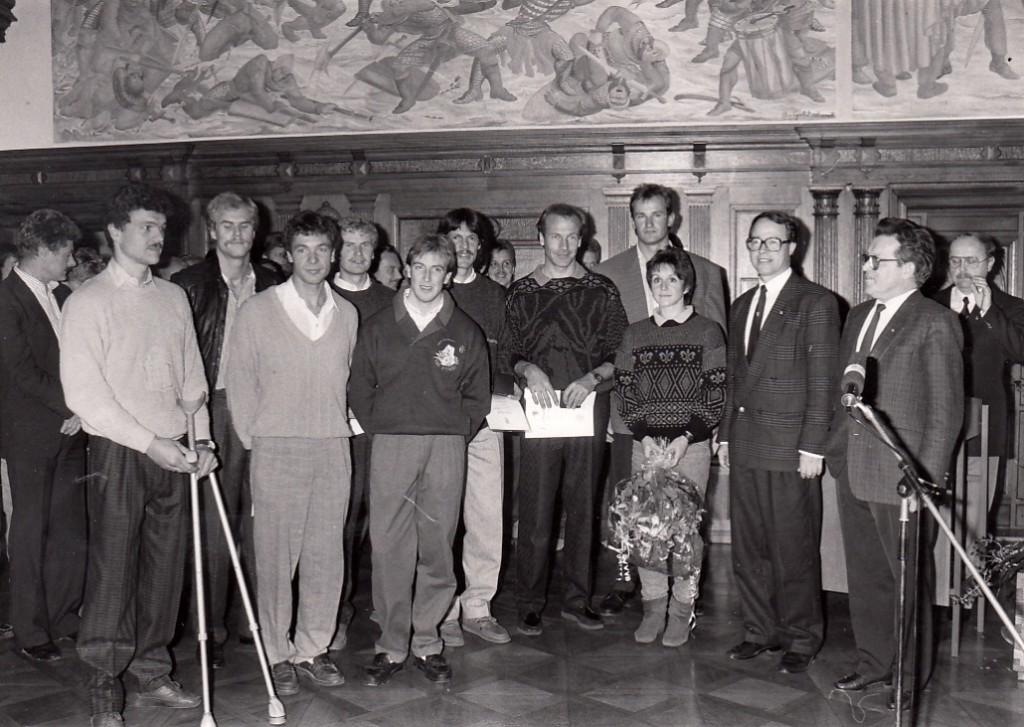 Sportlerehrung im Rathaus 1984